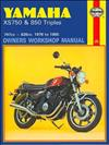 Yamaha XS750 & 850 Triples 1976 - 1985 Haynes Owners Service & Repair Manual