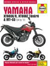 Yamaha XT660X/R, XT660Z Tenere & MT-03 2004 - 2011Haynes Owners Service & Repair Manual