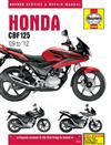 Honda CBF125 2009 - 2011 Haynes Owners Service & Repair Manual